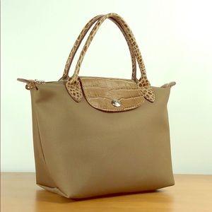 Longchamp 😍 Planetes Mini Crocodile Tote Hand Bag
